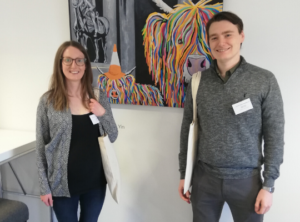 Amy Capper and Daniel Cairns at the Scottish Cancer Conference